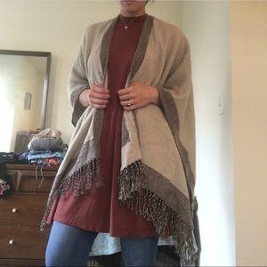 JustFab poncho shawl 🍁🍂